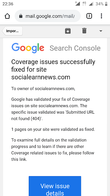 Coverage issues successfully fixed for site