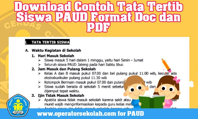 Download Contoh Tata Tertib Siswa PAUD Format Doc dan PDF.jpg