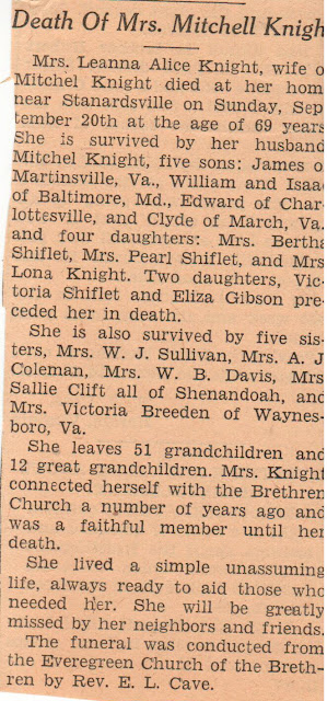 Obituary Leanna Jollett Knight Sep 20, 1936  https://jollettetc.blogspot.com