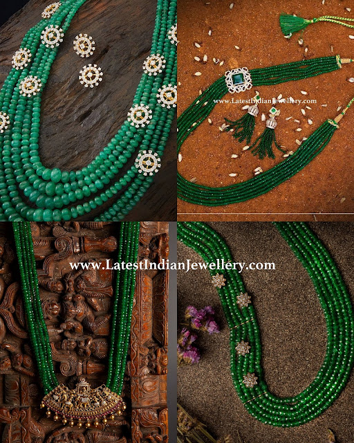 Different Emerald Beads Designs