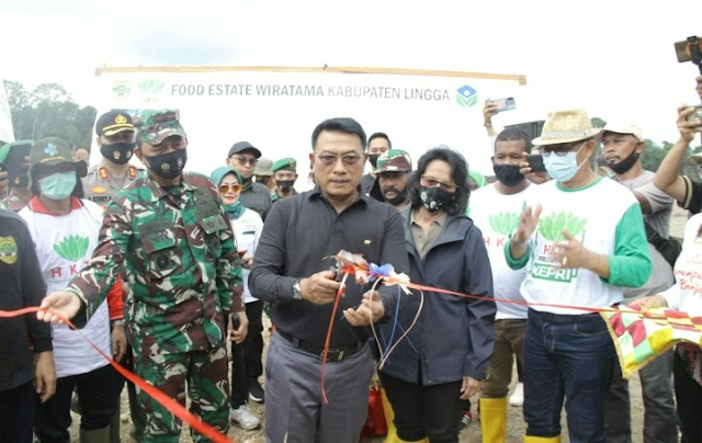 Wujudkan Mimpi Alias Wello, Ketua HKTI Moeldoko Resmikan Kawasan Food Estate Seluas 1.800 Ha Di Lingga
