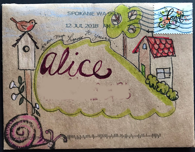 Alice Hendon, mail art from a new friend, Pam McVay