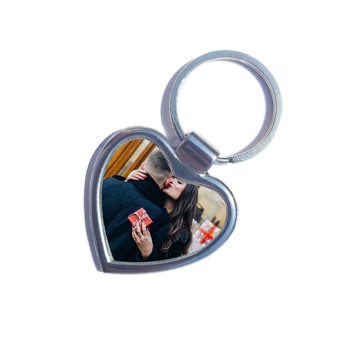 Heart 2 Sided Photo Print Metal Keychain - Imagine Photo Art