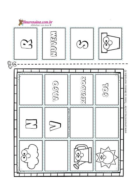 1º ano, Atividade de Alfabetização, Atividades 1 ano, Atividades de alfabetização infantil, Atividades com alfabeto, atividades com letras iniciais, Amorensina, Alfabetizar com amor,