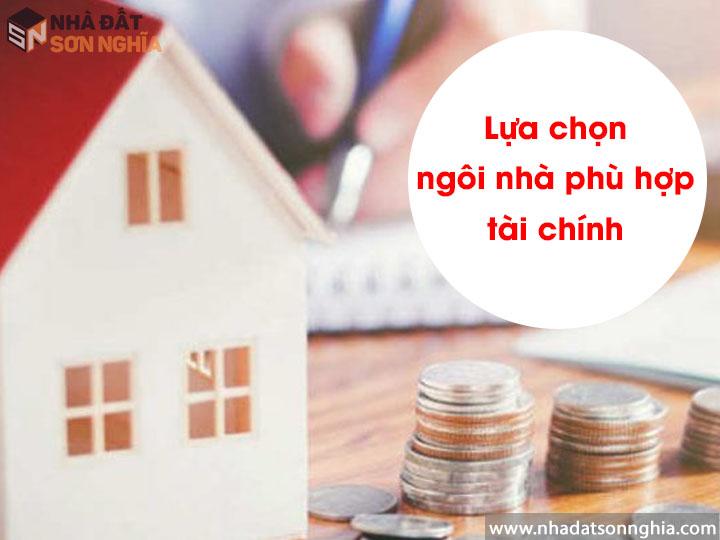 Lựa chọn ngôi nhà phù hợp với tài chính