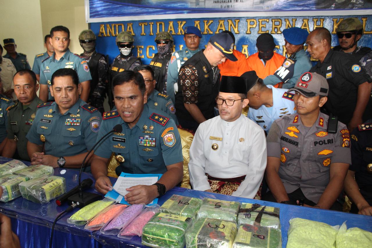 Tim F1QR Lanal Dumai Lantamal I, Tangkap Pelaku Penyelundup Narkoba Di Kepulauan Meranti Riau