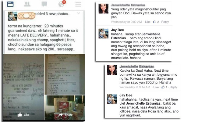 Atenean Doctor Jay bee Tricks Jollibee Delivery Guy to get Discount