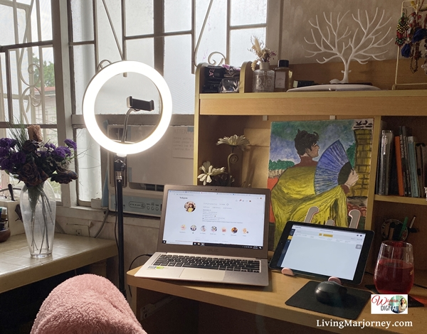 Work From Home Set-up: Ring light from JuanGadget