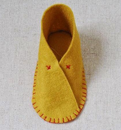 Cara Membuat Kerajinan Tangan Dari Kain Flanel | Sepatu Bayi 10
