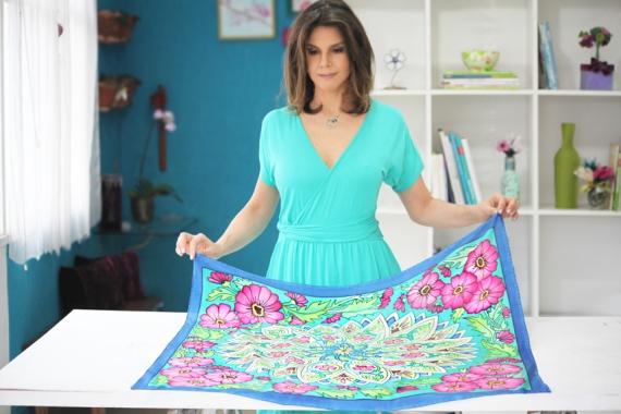 Adesivo De Flores Para Roupas ~ Blog Liah Conceiç u00e3o Como fazer uma bolsa com lenço