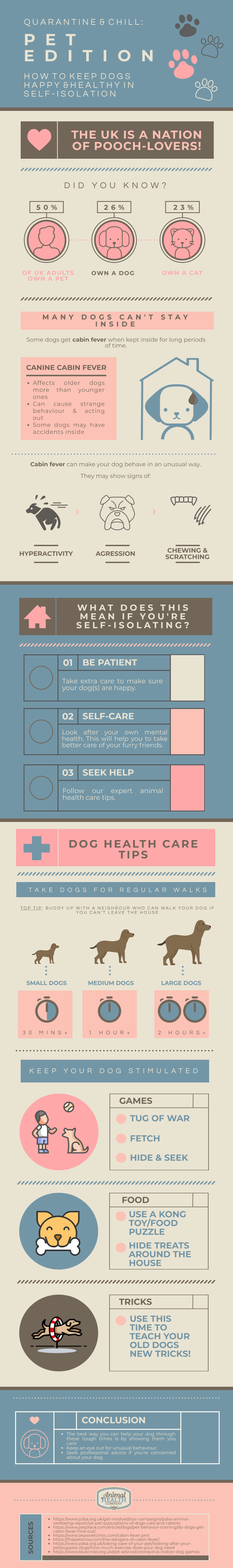 How to Keep Dogs Healthy and Happy in Lockdown #infographic
