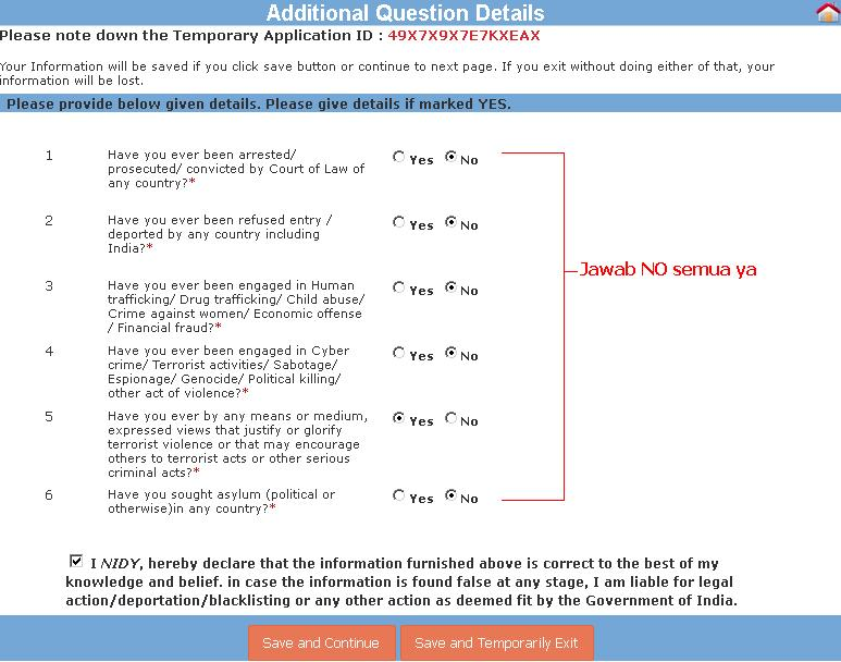 persyaratan membuat visa india