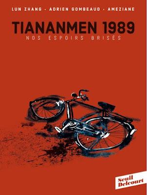 """couverture de """"Tian An Man 1989 Nos vies Brisées"""" par Lu Zhang, Ameziane et Adrien Gombeaud chez Delcourt Seuil"""