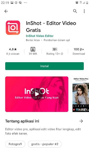 Aplikasi Edit Video TikTok inShot