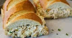 خبز محشو بالدجاج