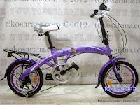 Sepeda Lipat Exotic 6 Speed 16 Inci