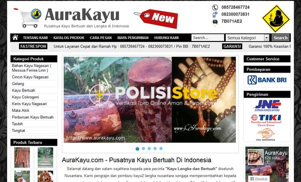 Aura Kayu Langka - Verifikasi Toko Online Aman dan Terpercaya - Polisi Store