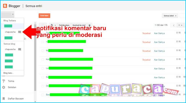 notifikasi komentar blogspot