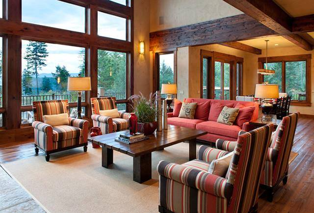 Traditional Open Concept Living Rooms