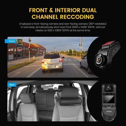 Review Zenfox 2K 1440P Wi-Fi Dual Dash Cam