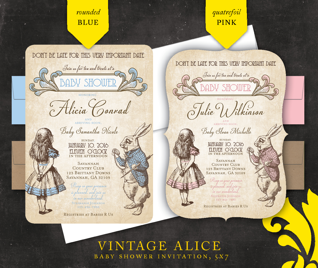 already have one alice in wonderland theme invitation design that