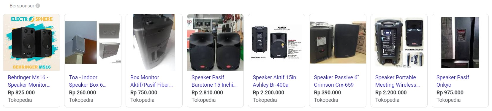 contoh produk speaker aktif pasif