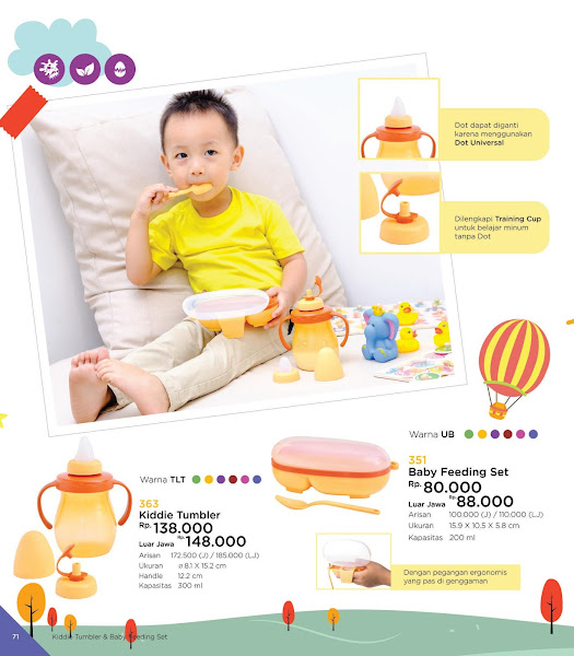 Kiddie Tumbler, Baby Feeding Set, Katalog Tulipware 2019