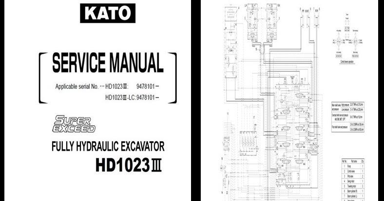 MANUALES DE MAQUINARIA PESADA: KATO HD1023-III MANUAL DE