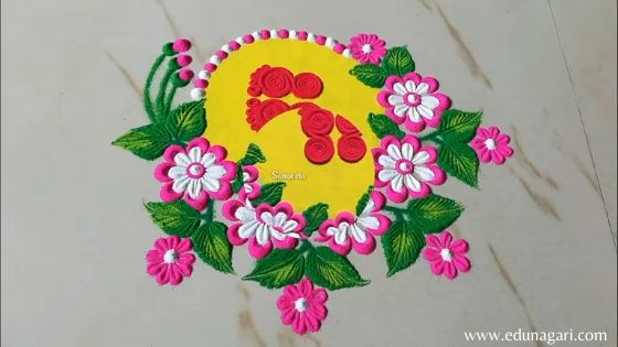 Happy New Year Rangoli Design Gallery 57