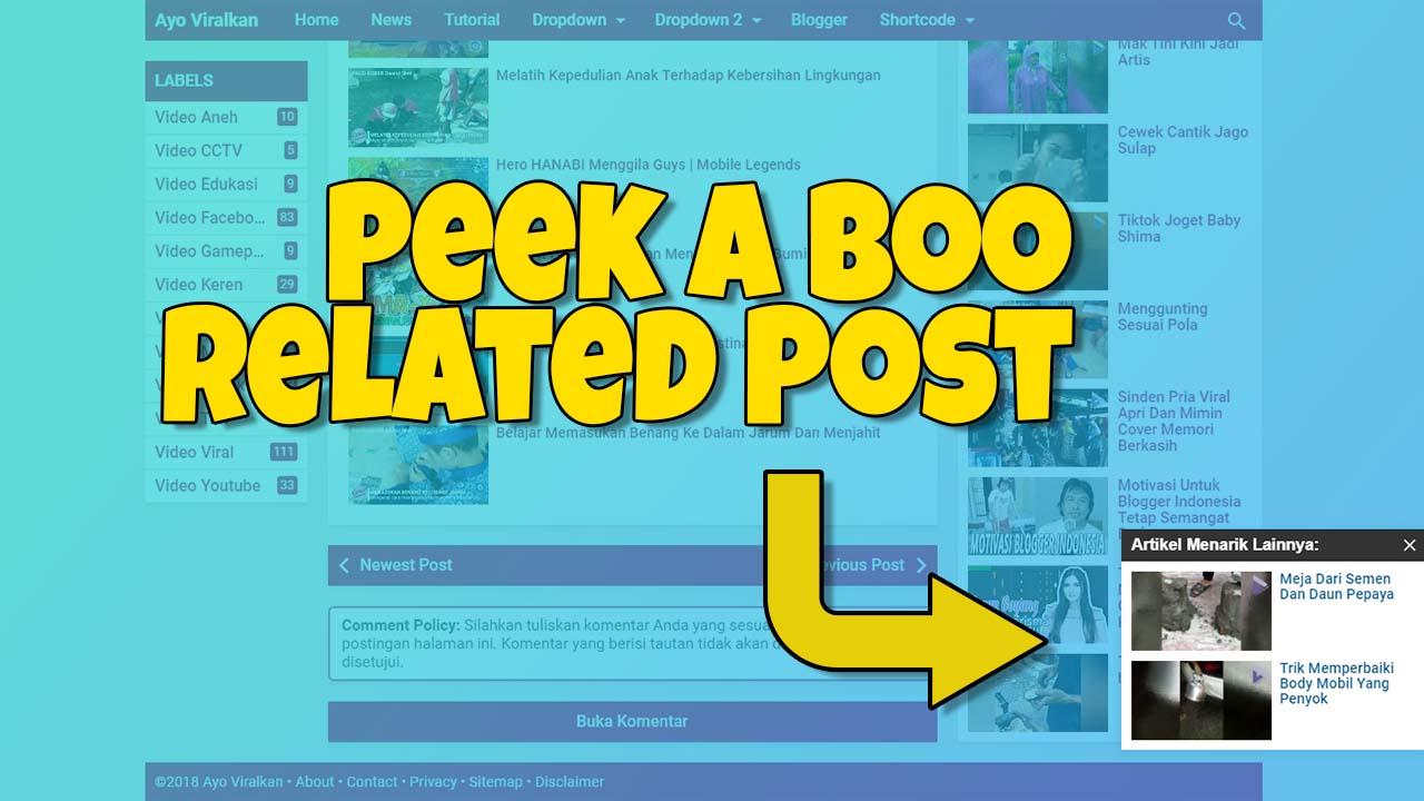 Membuat Peek a Boo Related Post Untuk Non AMP