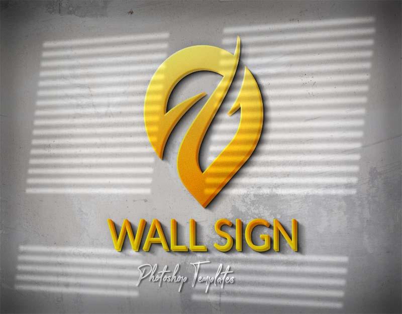 Wall Logo Sign Mockups