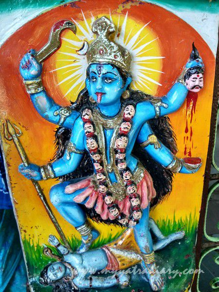 An illustration of Kalika Mata at the Mahakalika Temple, Pavagad, Champaner Gujarat