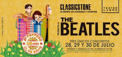 TRIBUTO A THE BEATLES POR CLASSICSTONE EN TEATRO LIBRE DE CHAPINERO