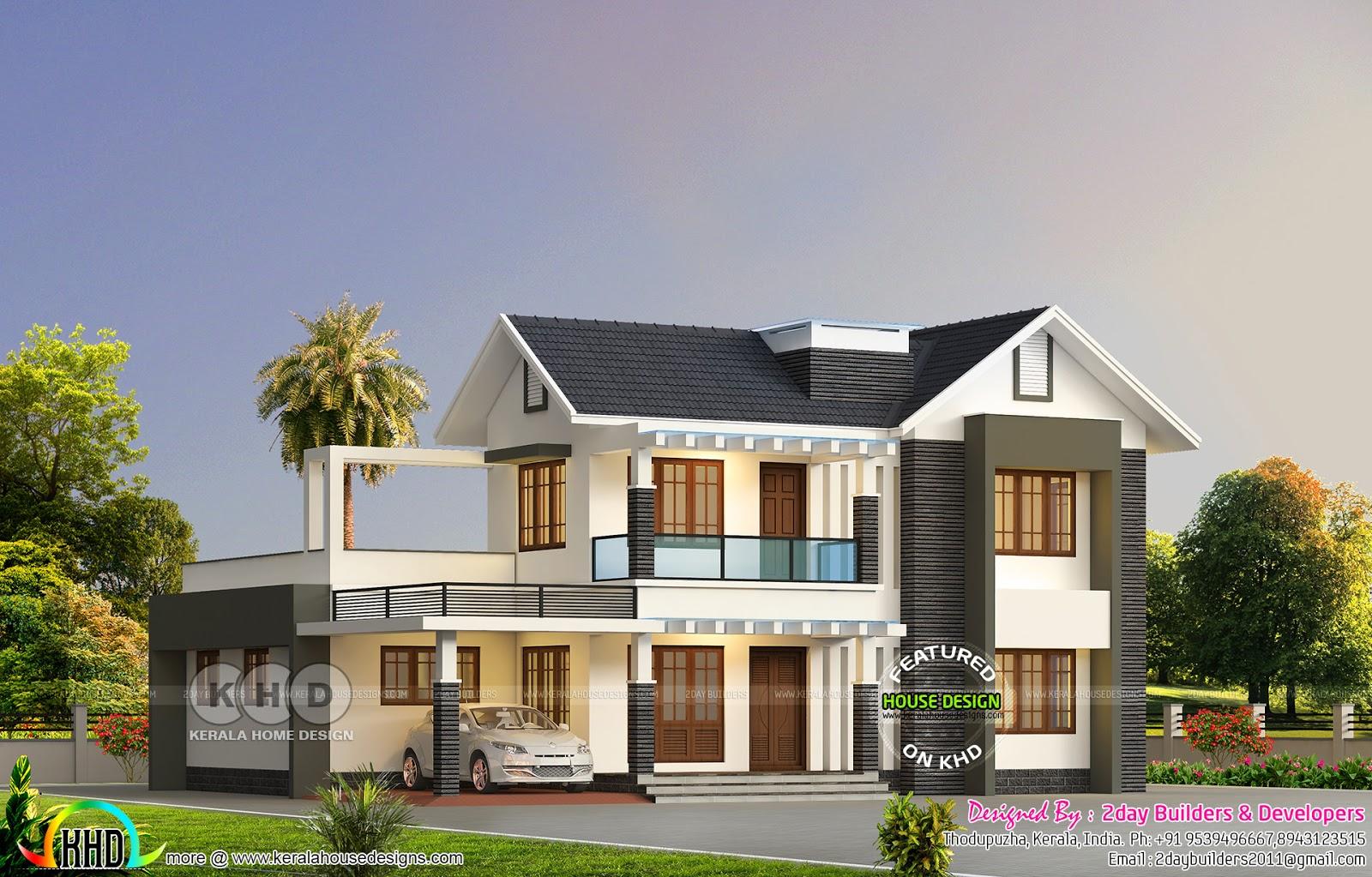 2589 Sq Ft Mixed Roof Modern House Kerala Home Design Bloglovin