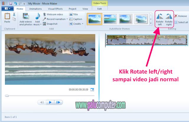 cara membalik video yang terbalik