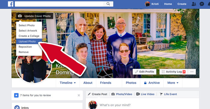 How to Change your Cover Photo