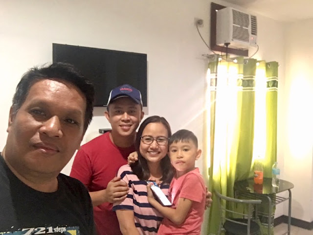 With Jan Aguirre Vlog and his family at RE-CJC Pension House