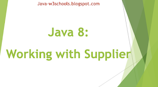 Java 8 - Working with Supplier