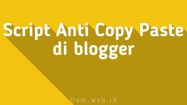 Script Anti Copy-Paste di Blogger