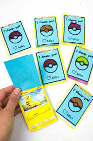 How to Make Super Easy Homemade Pokemon Valentine's Day Cards with kids (Free printable included)