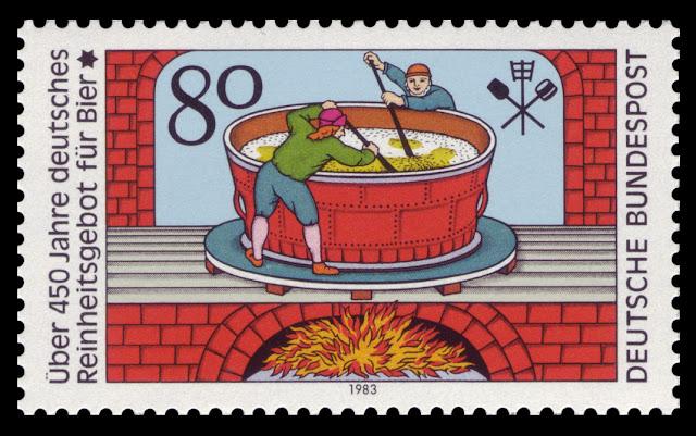 German beer law stamp