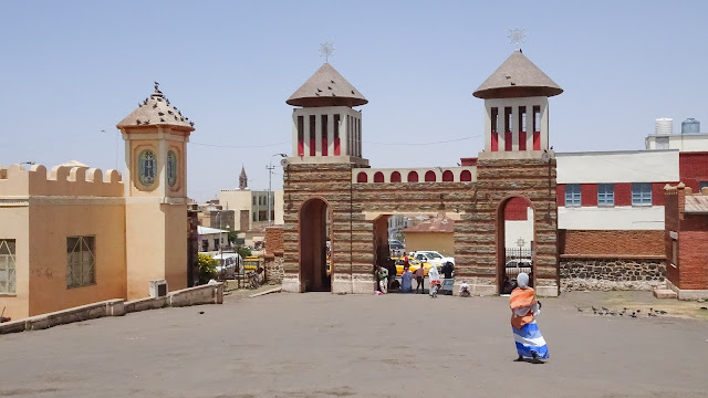 The cathedral is located on Arbate Asmara Street.
