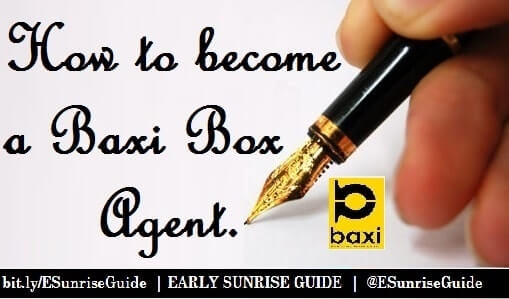 How to become a Baxi Box Agent