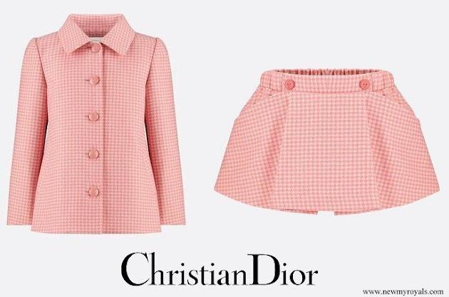 Princess Gabriella wore Christian Dior coat and skirt