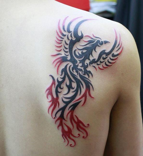 50+ Best Phoenix Tattoos for Guys (2019) With Meaning