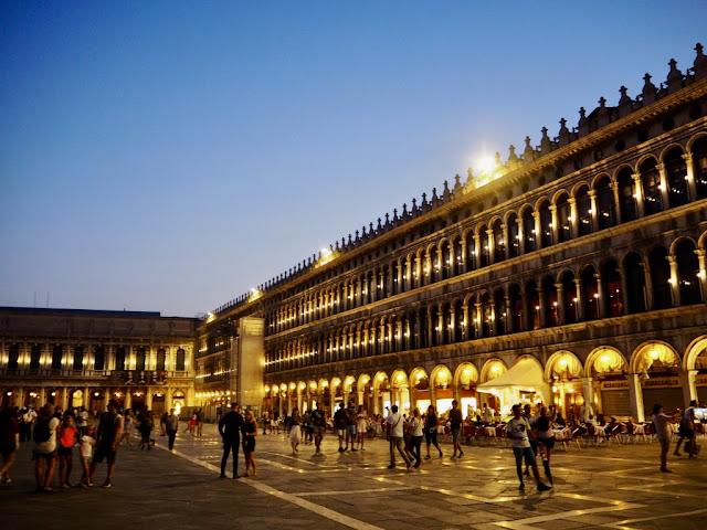 náměstí Sv. Marka - Piazza San Marco - Benátky v noci, Venezia at night