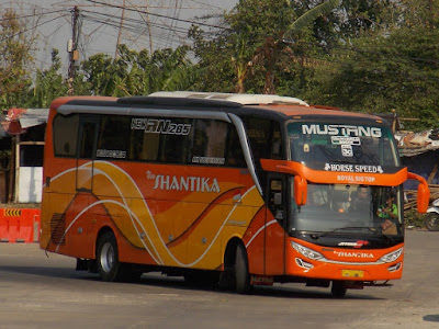 Foto Bus New Shantika 3C Mustang