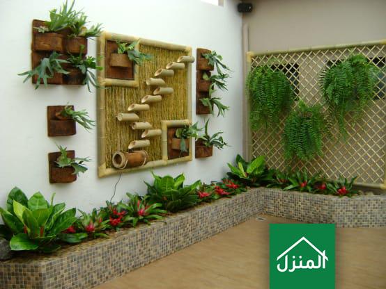 صور احواض زراعة صغيرة في حديقة المنزل
