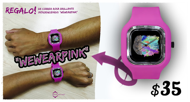 "¡Consigue tu reloj ""Be Creative"" con correa de regalo!"