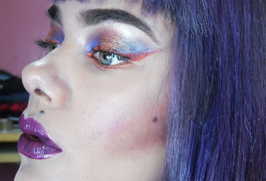 """Soft Orange and Blue Makeup inspired """"The Art of Drowing"""" by American Rock Band  AFI"""